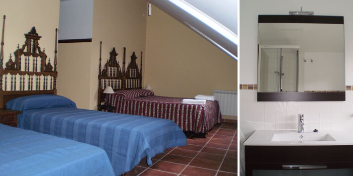 6 bedroom (one of then cuatriple) 3 bathroom and 1 toillet